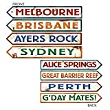 Beistle 55340 Australian Street Sign Cutouts, 4-Inch by 24-Inch, 4-Pack