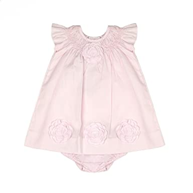 e3ee4f33dcf3b Carriage Boutique Baby Girl Classic Pink Dress - Cut Out Flowers