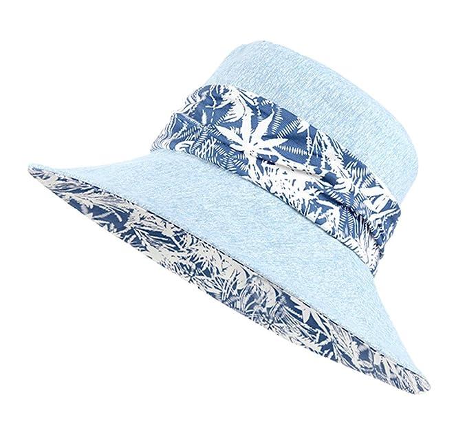 231eb8a2e7652 Home Prefer Womens Sun Hat UPF50+ Beach Hat Foldable Light Weight Sun  Protective