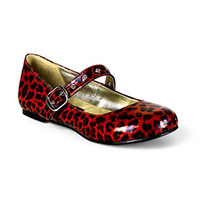 fa0c47ce16c Red Cheetah Print Cute Shoes Ballet Flat Mary Janes Size  6