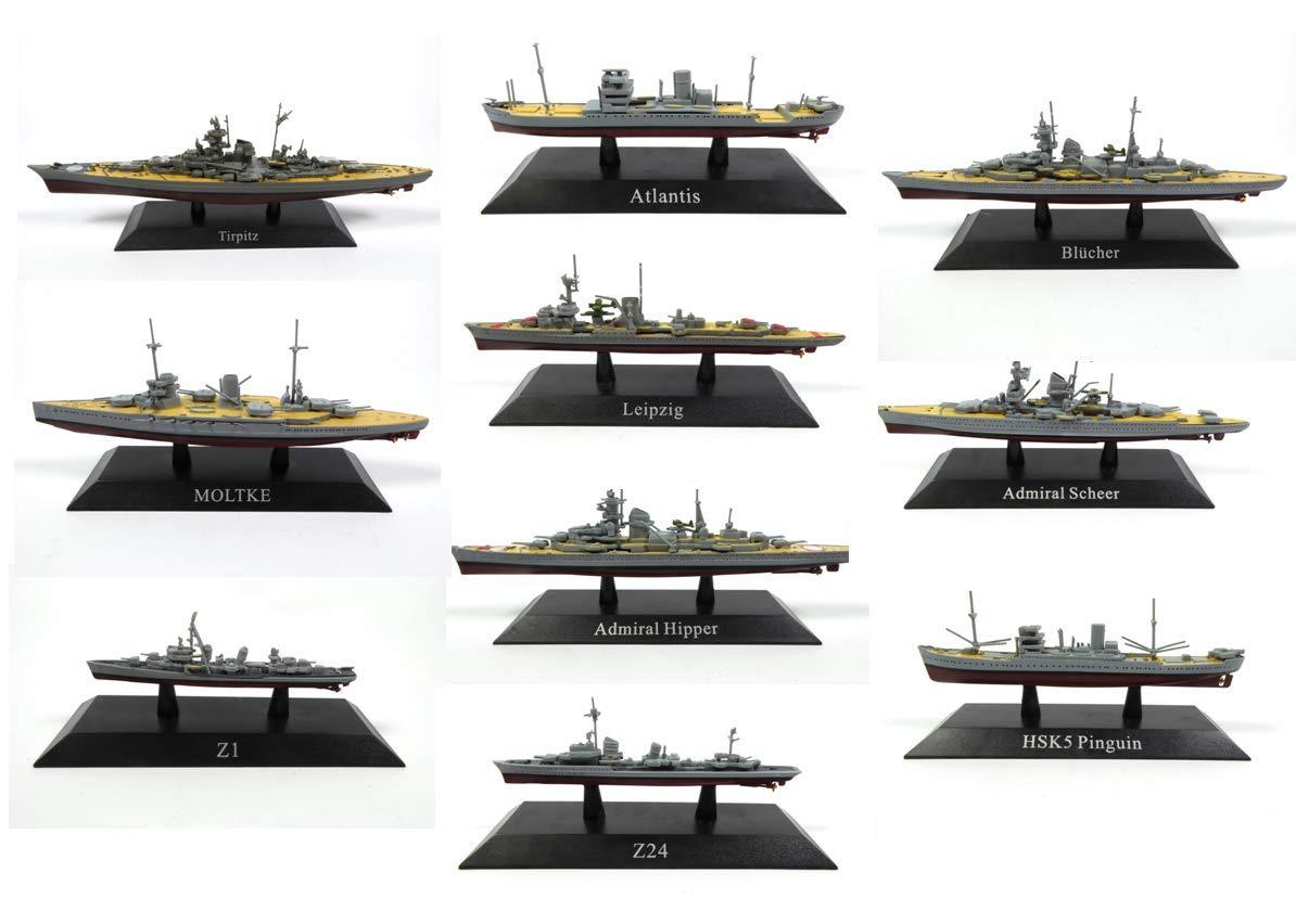 Precio al por mayor y calidad confiable. De Agostini Set of 10 German Reich Warships     Collection 1  1250 (Ref  WSL6)  online barato