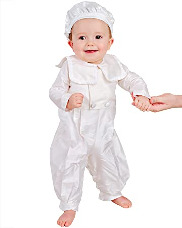 829fcf1bb Image Unavailable. Image not available for. Color: Brakkin Silk Christening  or Baptism Outfit for Boys ...
