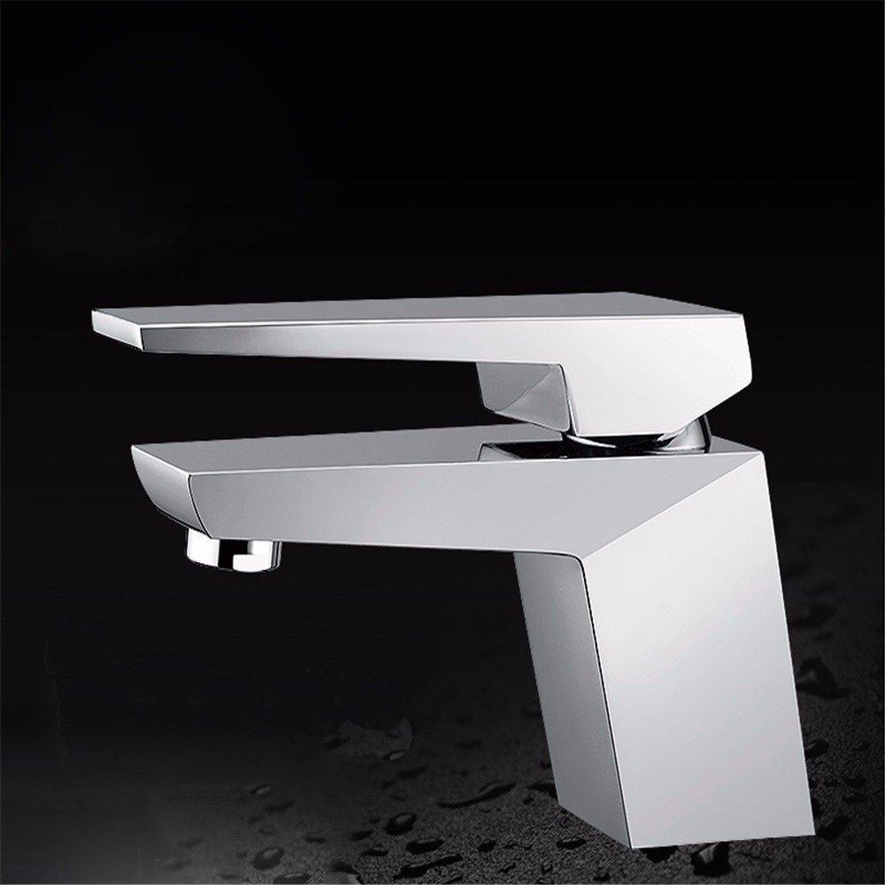 Chrome LOSTRYY Copper single handle single hole cold bathroom basin faucet,Matte black