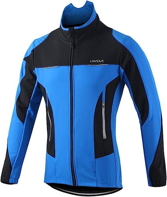 Lixada Men's Cycling Jersey Suit Winter Thermal Windproof Waterproof Long Sleeve Mountain Bike Road Bicycle Jackets