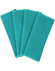 Homaxy 100% Cotton Waffle Weave Kitchen Dish Cloths, Ultra Soft Absorbent Quick Drying Dish Towels