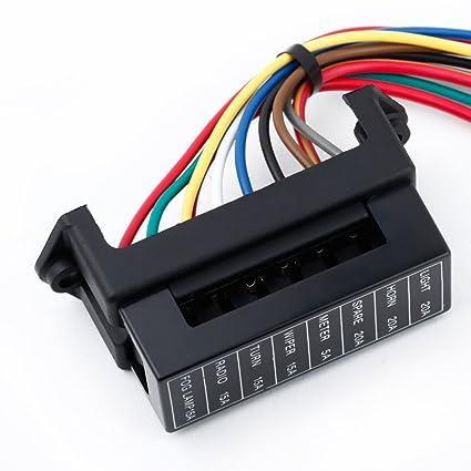 Docooler 8 Way DC32V Circuit Blade Fuse Box Fuse Block Fuse Holder