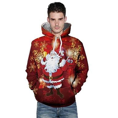 52eeb4db9d5da AIMEE7 Sweats à Capuche Homme Grande Taille Pull Noel Unisex Sweat-Shirts  Manches Longues 3D