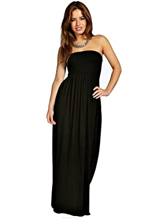 b6f770cb1d Womens Strapless Boobtube Maxi Dress Ladies Sheering Boob tube Bandeau Long  Lot Size 8-26 (18