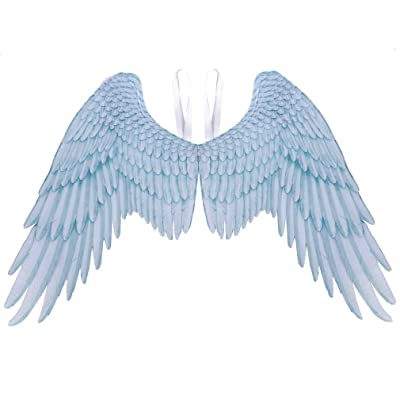 Alodidae 3D Angel Wings Costume with Elastic Straps Halloween Party Mardi Gras Cosplay Accessory (White/Adult): Clothing