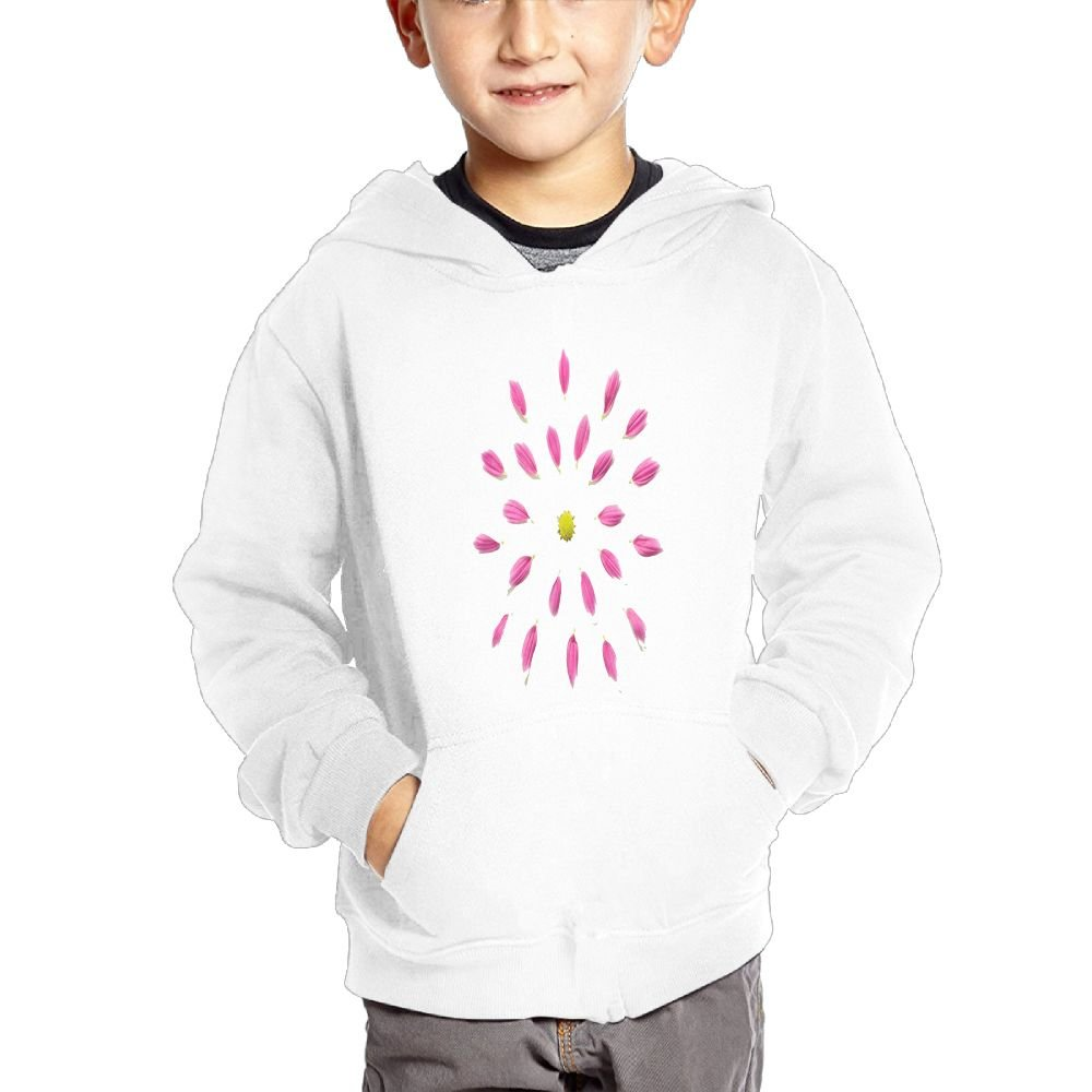 JIANGSHAN Pink Flower Fashion Hooded Pocket Sweater for Children Spring//Autumn//Winter Outfit Long-Sleeved Hoodie