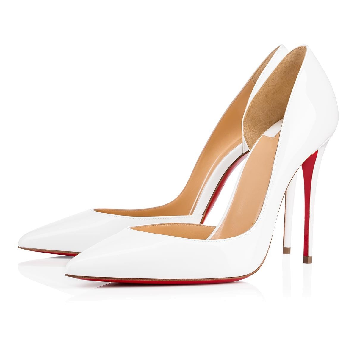Chris-T Women Fashion D'Orsay Peep Toe with High Heel Stiletto Dress Party Pumps Size 5-15 US B07F7V441J 7 B(M) US|White R/Red S0le(bottom)