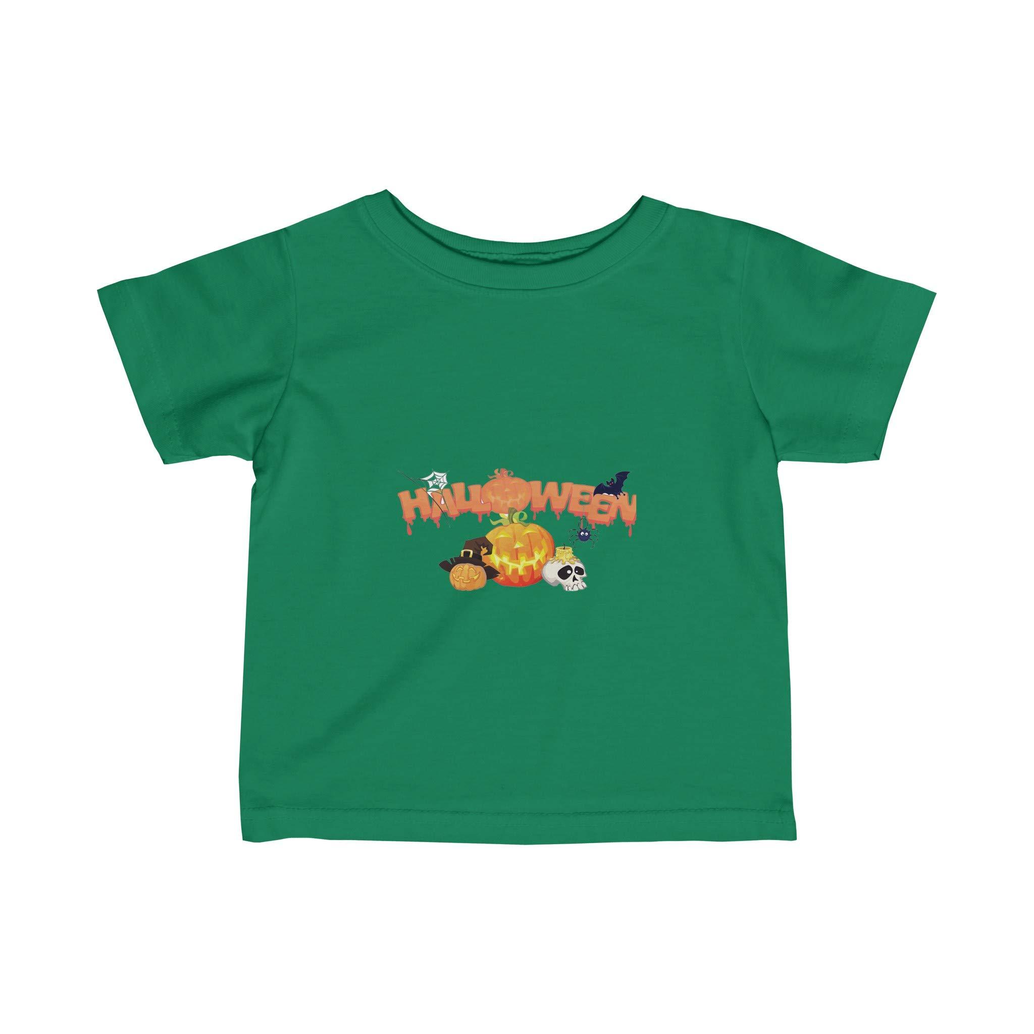 VioletsAreRedGifts Halloween Infant Fine Jersey Tee, Halloween Kid Shirt, Costume Shirt, Halloween Top (12m, Kelly)