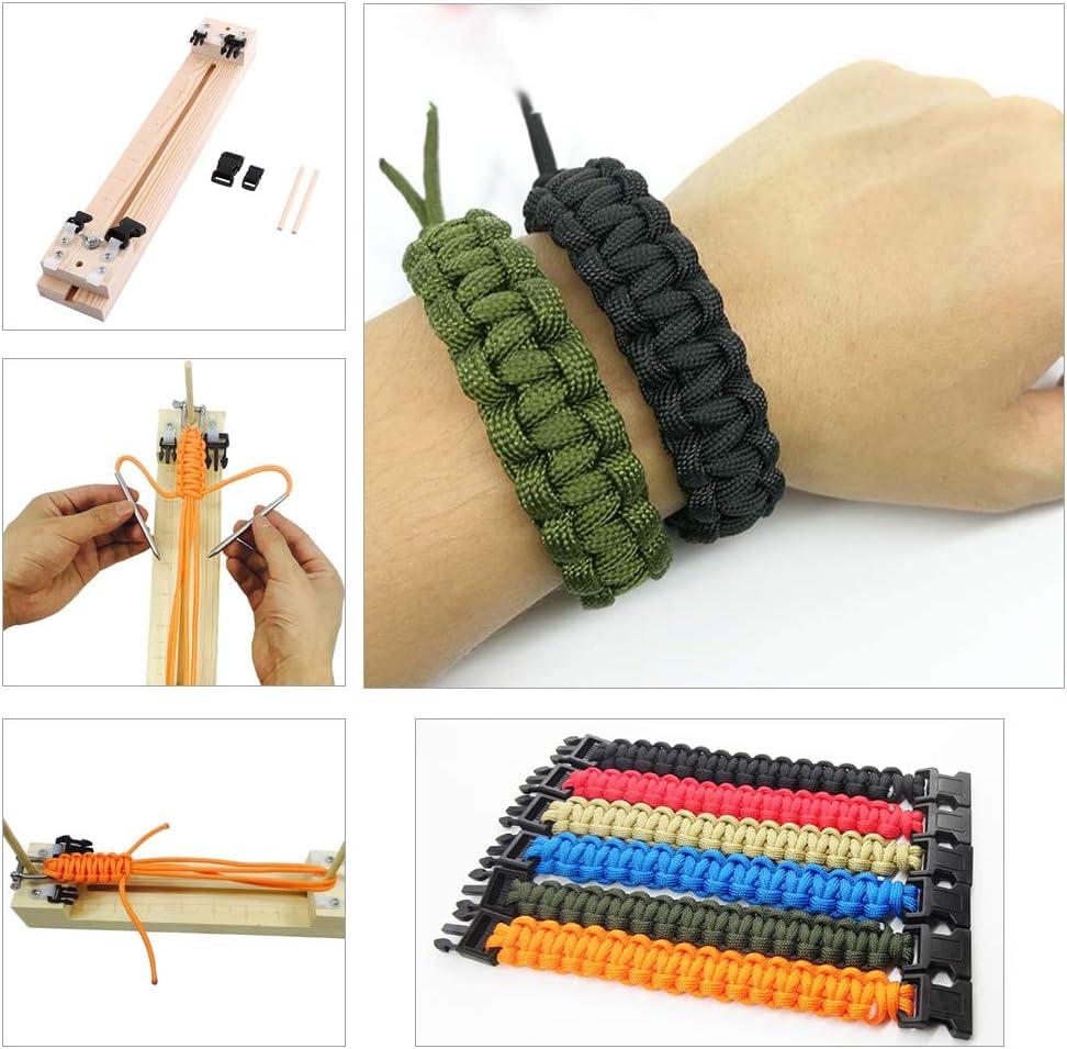 Wood Jig Bracelet Maker TOPINCN DIY Paracord Craft Tool Parachute Cord Wristband Makers Knitting Tool