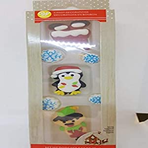 Food Items Icing Decorations Help, Santa And Helpers