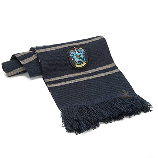 ff45282e945 Cinereplicas Harry Potter Scarf - Official - Authentic - Ultra Soft Knitted  Fabric (Blue and