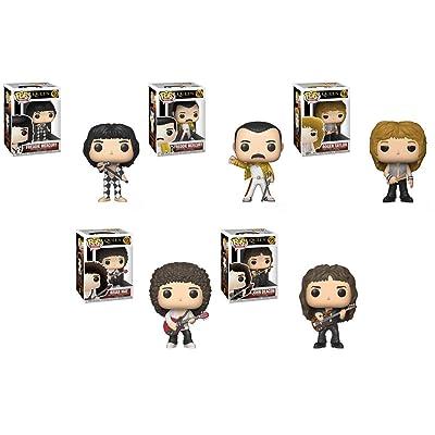 Pop Rocks: Queen - Freddie Mercury, Freddie Mercury (Wembley 1986), Roger Taylor, Brian May, John Deacon Vinyl Figures Set: Toys & Games