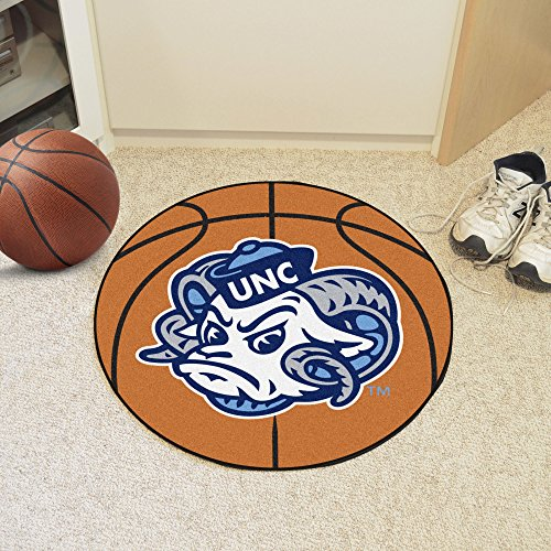 Fanmats NCAA UNC University of North Carolina - Chapel Hill Tar Heels Nylon Face Basketball (University North Carolina Tar Heels Basketball)