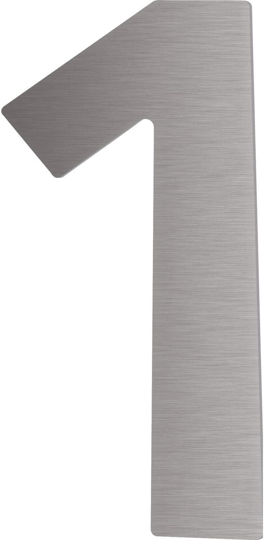H/öhe: 12 cm 1 St/ück Edelstahl V2A geschliffen Niro Hausnummer Ziffer 7