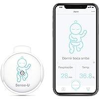(Modelo Más Nuevo) Monitor de bebé Sense-U con sensores de movimiento de rotación de respiración: rastree la respiración…