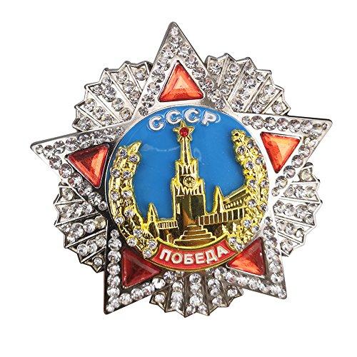 GuDeKe Order of Victory Soviet Russia Bagde CCCP USSR Award Order Medal 73mm Copy