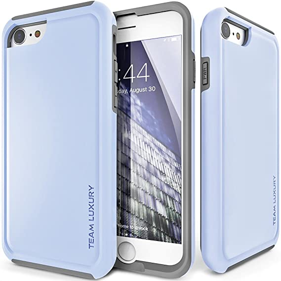new arrivals 1cd03 f91e3 iPhone 8 Case/iPhone 7 case, TEAM LUXURY Ultra Defender TPU + PC [Shock  Absorbent] Premium Protective Case - for Apple iPhone 7 & 8 (Serenity/Gray)