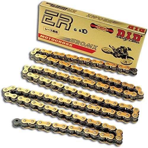 [D.I.D 520MX-50 Gold 50-Link High Performance Heavy Duty Chain with Connecting Link] (520mx Chain)