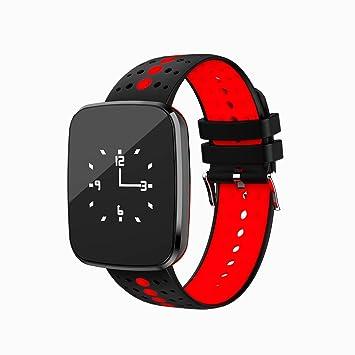 Reloj de pulsera Fitness Tracker con frecuencia cardíaca de Tkstar; sumergible, pantalla táctil IOS/Android, Bluetooth, pulsera inteligente JUV6, ...