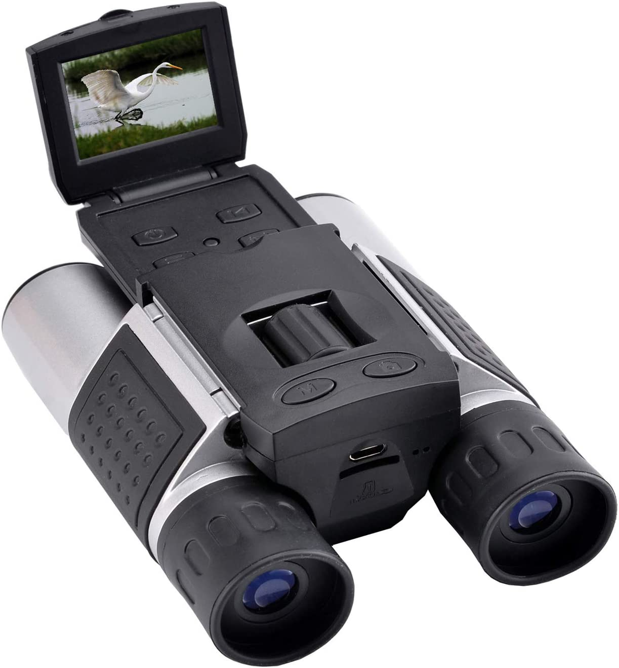 """Eoncore 1.5"""" LCD Digital Binoculars Camera 10x25 5MP Video Photo Recorder Telescope with 8GB Memory Card for Bird Watching Football Game Concert"""