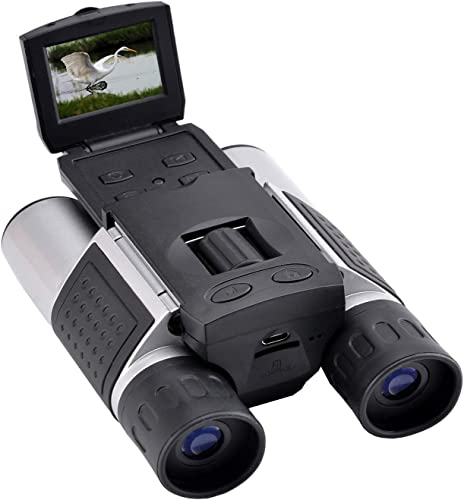 Eoncore 1.5 LCD Digital Binoculars Camera 10×25 5MP Video Photo Recorder Telescope with 8GB Memory Card for Bird Watching Football Game Concert