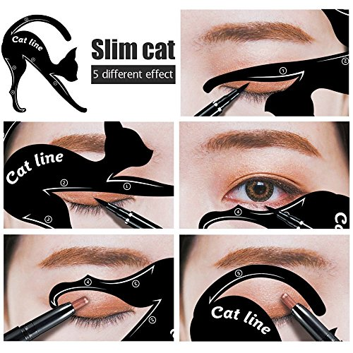 10 Styles for the perfect Cat Eyeliner, Stencil Models, Double Wing, Extravagant Cat, Arabic Eyeliner