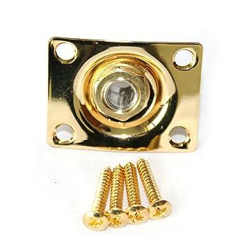 fastmusic dorado Square Socket Salida Jack placa para gibson LP Tele y SG guitarra eléctrica estilo: Amazon.es: Instrumentos musicales