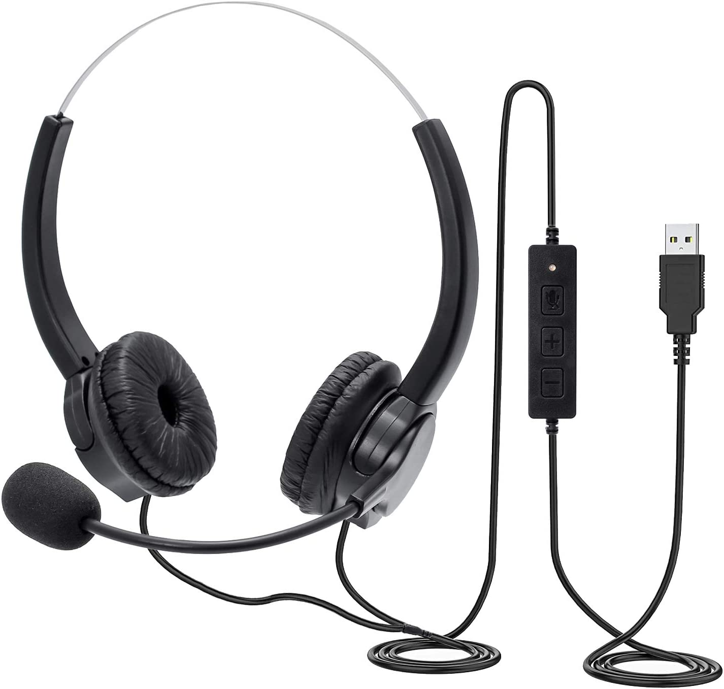 Usb Headset Pc Headset Mit Mikrofon Noise Cancelling Elektronik