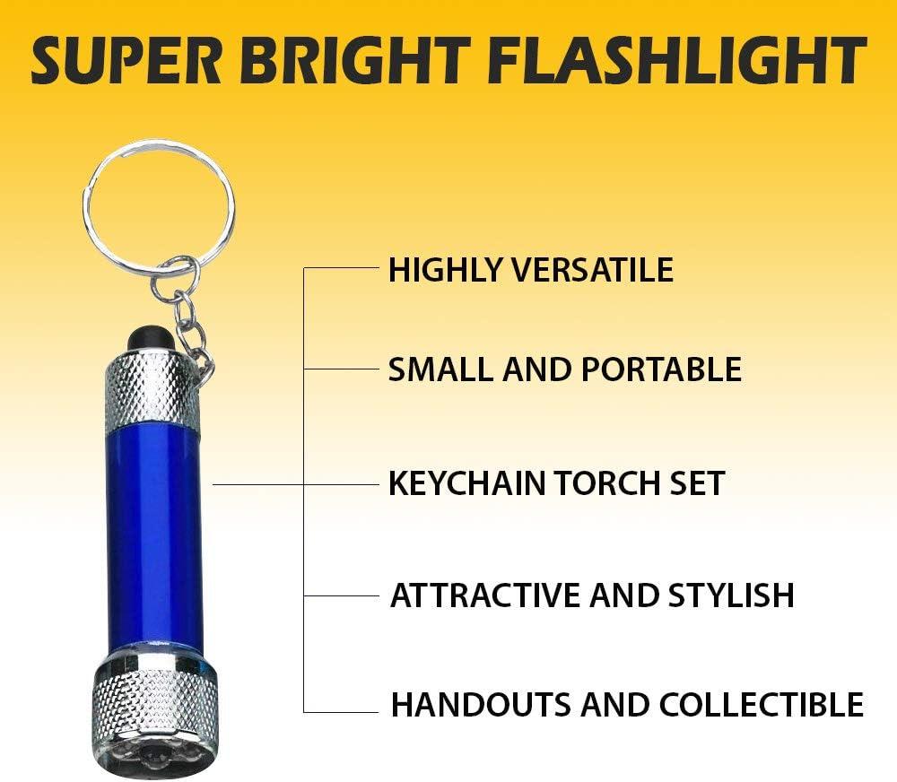Bekla DEL Rechargeable Porte-Clé Torche Stocking Filler Mini Keychain Light
