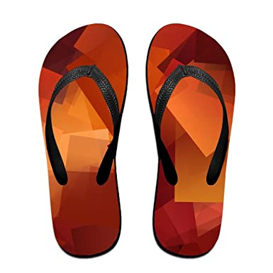Couple Flip Flops Geometry Trippy Acid Print Chic Sandals Slipper Rubber Non-Slip Spa Thong Slippers