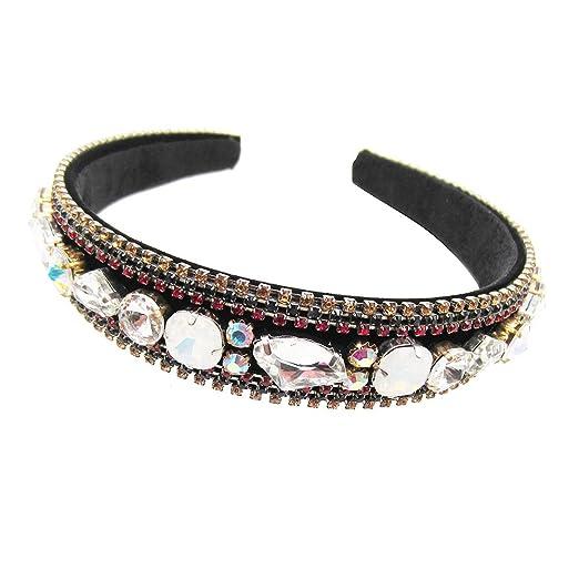 Amazon.com  Karen accessories Rhinestone Thick Hard Headband 8bdc61cda59
