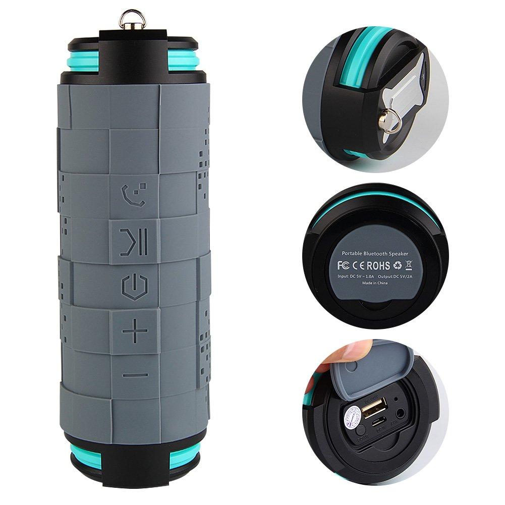 TOPCHANCES (TM) bta610 Bluetooth 4.0ワイヤレスProtable防水&防塵&耐衝撃スポーツスピーカーwith Hands Free   B011BNW142
