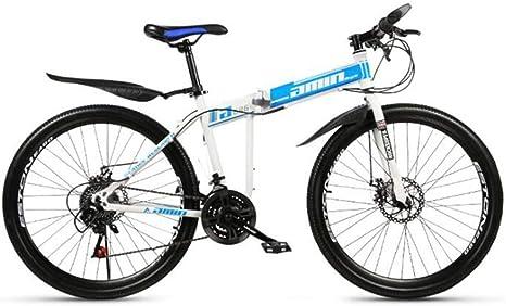 WJSW Bicicleta de montaña, Bicicleta Plegable de Doble suspensión ...