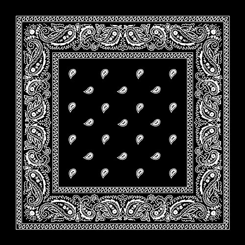 Large 100% Cotton Paisley Bandanas (22