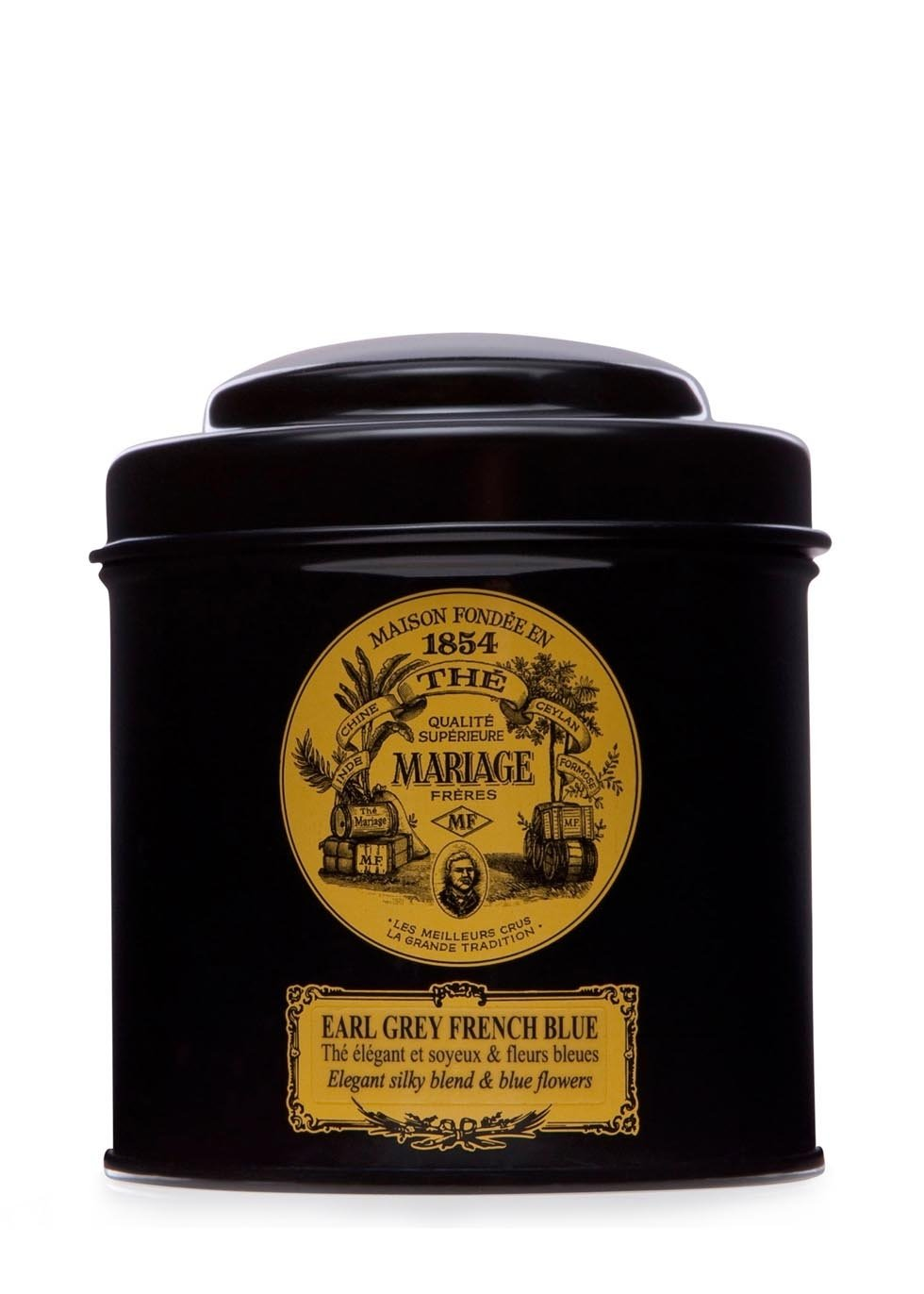 MARIAGE FRERES. Earl Grey French Blue Tea, 100g Loose Tea, in a Tin Caddy (1 Pack) Seller Product Id MR24LS - USA Stock