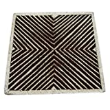 Decorative Geometric Design Wooden Blocks Hand Carved Textile Printing Stamp