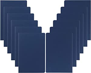 XYark 12 Pack Blank Notebook Journals Bulk, Plain, 60 Pages, 5.5x8.3 inch, A5, Travel Journal Set for Travelers, Students, Church, Office, Drawing Sketchbook Diary Paper Subject Book Planner, Blue