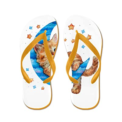 differently 8c4b6 31f2f Royal Lion Men s Moon Kitten with Stars Rubber Flip Flops Sandals