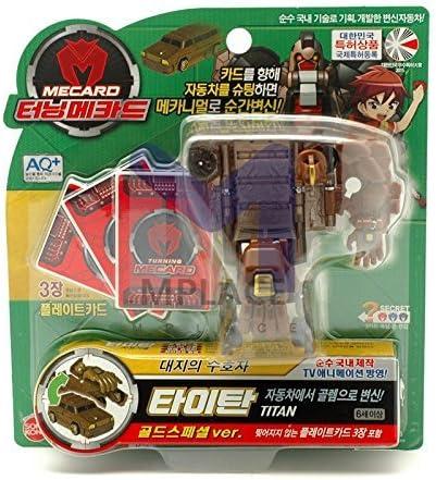 Turning Mecard KANGSHI Gold Special Ver Transformer Car Robot TV Animation Toy