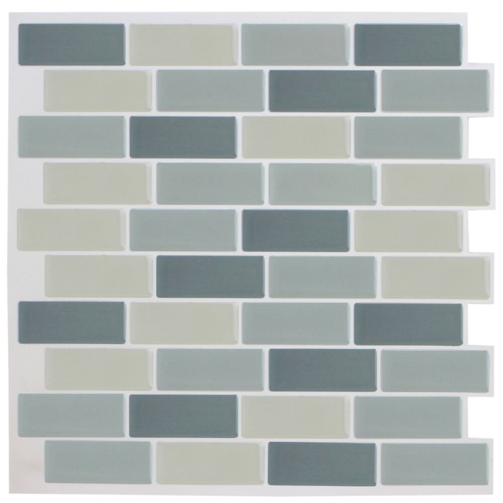 Amazon.com: Bostom Wall Tile Anti-mold Peel & Stick Adhesive Vinyl ...