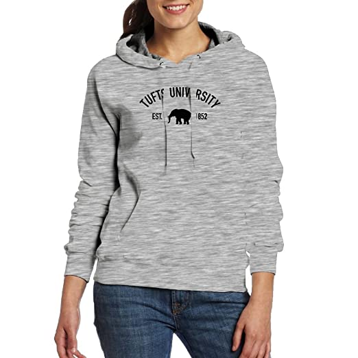 Amazon.com  QTHOO Women s Long Sleeve Tufts University Established 1852  Hooded Sweatshirt with Pocket  Clothing cc184ae95b
