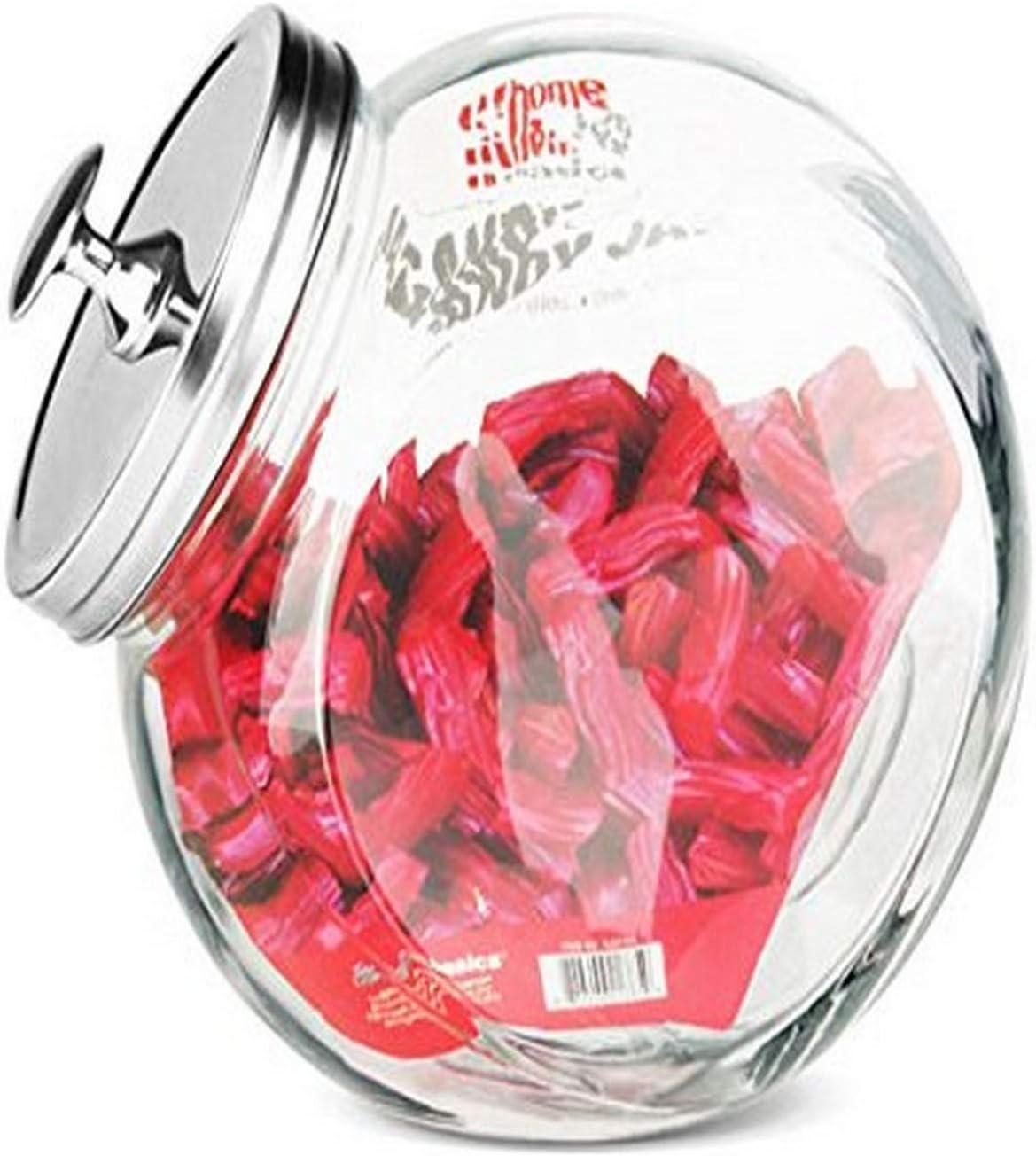Home Basics GJ01385 Glass Cookie Jar, Large