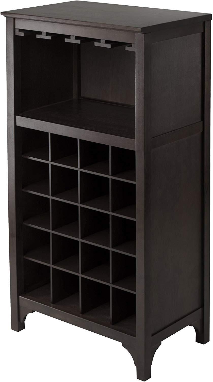 Winsome 92729 Ancona Wine Storage, Dark Espresso