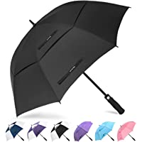 Golf Umbrella Windproof Large 62 inch Double Canopy Automatic Open Umbrella for Men - Vented Sun Umbrella - Stick Umbrellas 【ZOMAKE】