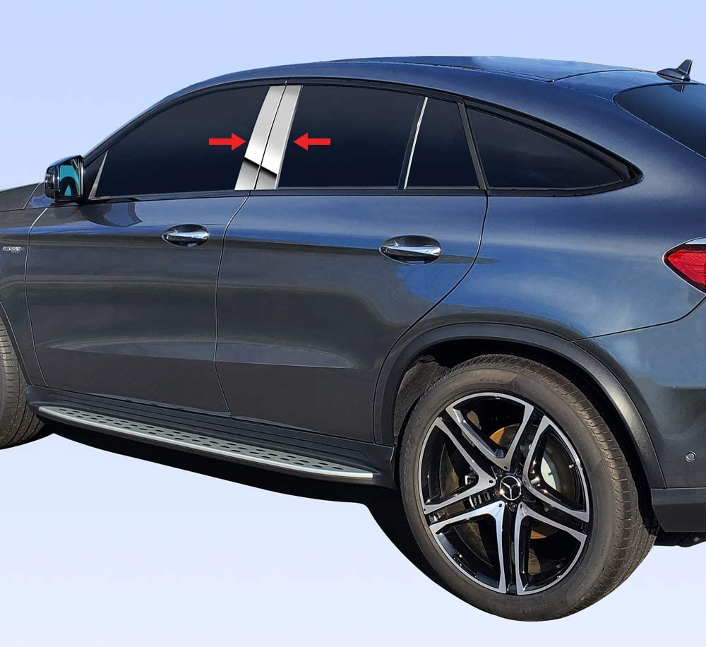 Custom for 2018-2020 Volkswagen Tiguan Chrome Stainless Steel Pillar Post Trim6PCS Tyger Auto Made in USA