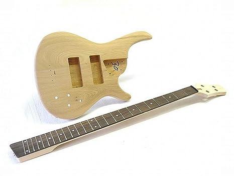 4-string Kit bajo Guitarra Eléctrica ml-factory sr-style Ash Body ...